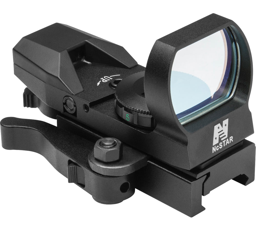 NC Star Red Reflex Sight|4 Reticles|QR Mount|Black