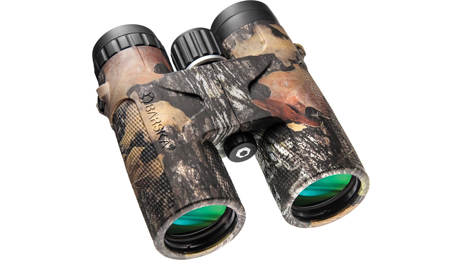 Barska Optics Blackhawk Binoculars 10x42mm, Mossy Oak, Clam Pack