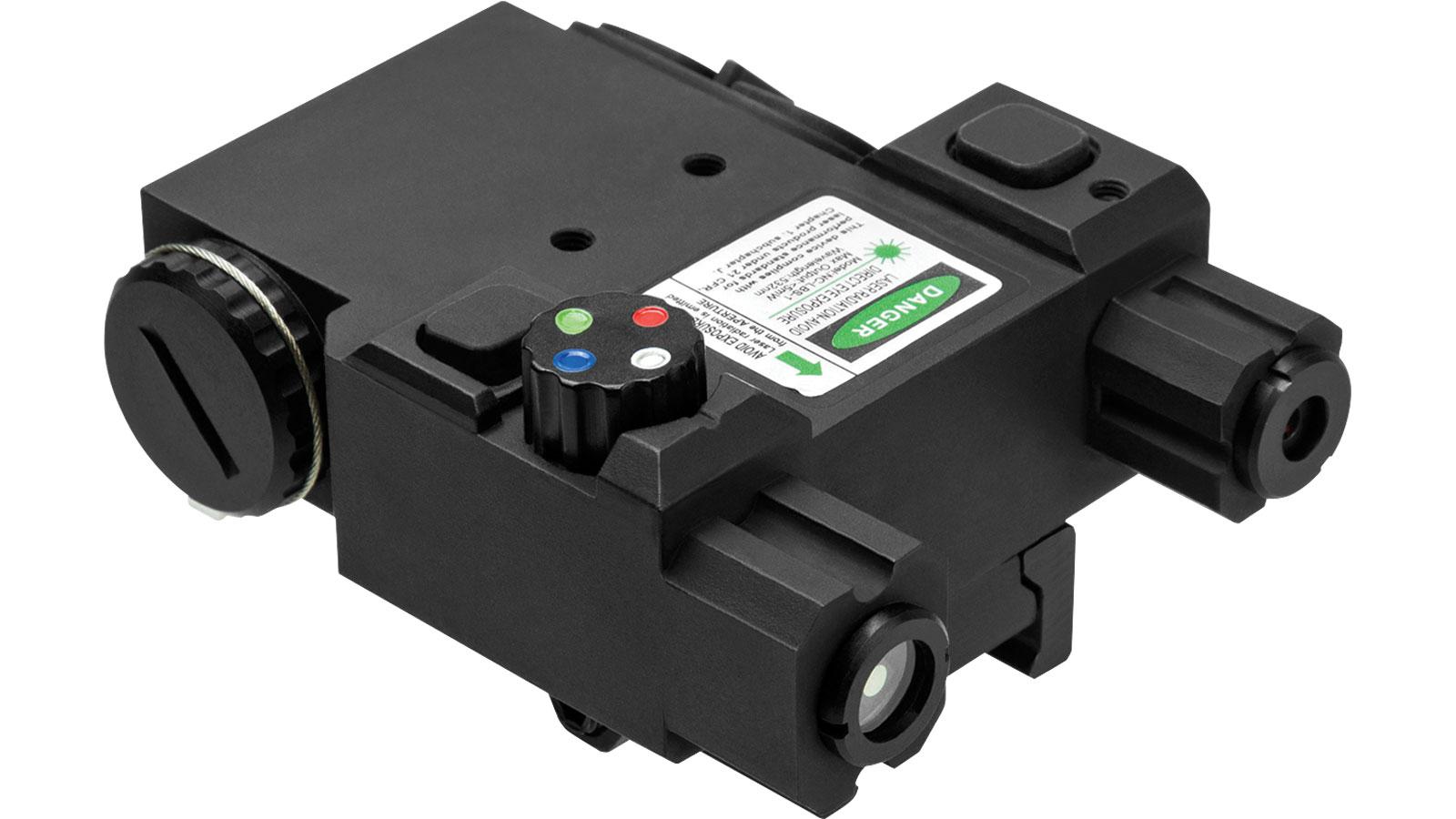 NC Star Green Laser 4X LED Nav Light Box QR Mount Black