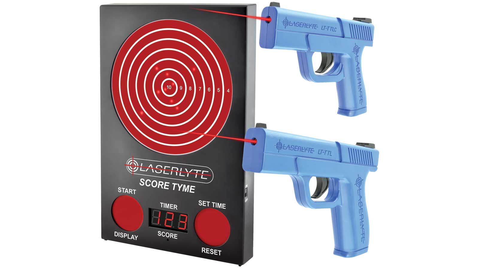 LaserLyte Scoretyme Versus Kit: Scoretymet Target, 2 Pistols, SC