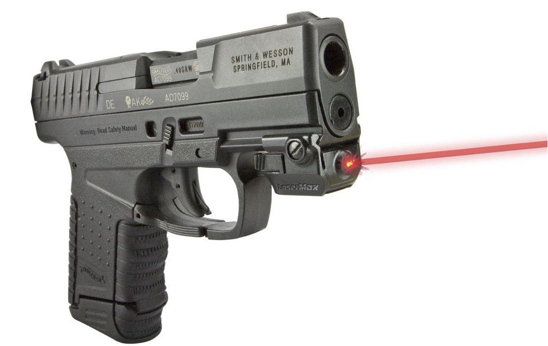 LaserMax LMSMICRO2R LMS Micro 2 Red Laser Universal Picatinny|Mil-Spec|Weaver