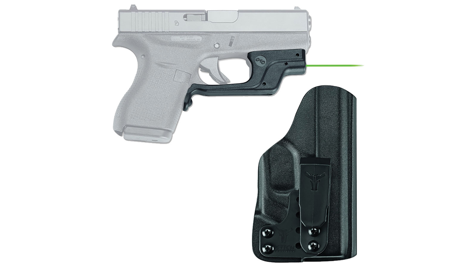 Crimson Trace Glock 42 with Green Laser and Blade Tech IWB Holste