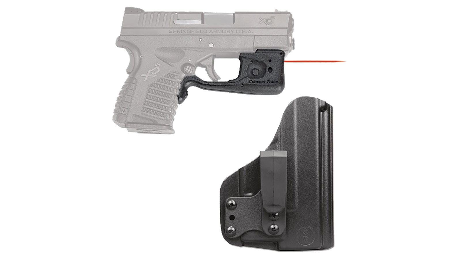 Crimson Trace LL802HBT Laserguard Pro with Holster Red Laser Springfield XD-S Trigger Guard Black