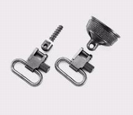 Uncle Mikes 18002 Mag Cap Swivel Set 1 Magazine Cap Black Steel in.