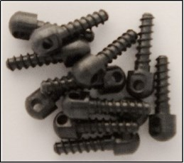 Grovtec US Inc GTHM51 Wood Screw Swivel Studs 0.75 12-Pack Black in.