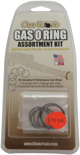 Carlsons 00066 Gas O-Ring Assortment Kit 12|20 Gauge Rubber|Graphite Coated Black|Silver