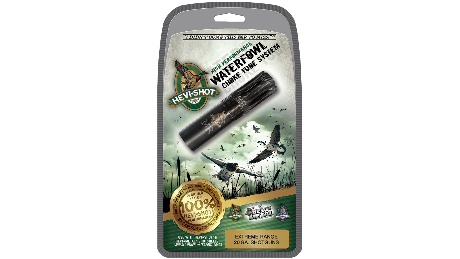 Hevishot 240123 Hevi-Choke Waterfowl Crio Plus 20 Gauge Extended Range 17-4 Stainless Steel Black