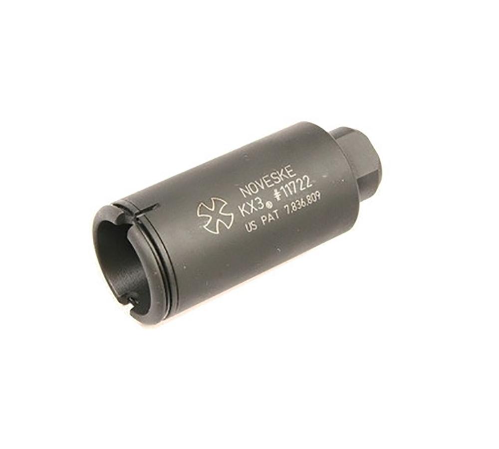 Noveske 5000518 KX3 Flash Suppressor 7.62mm 1.35 Dia 5|8x24 tpi Black Phosphate in.