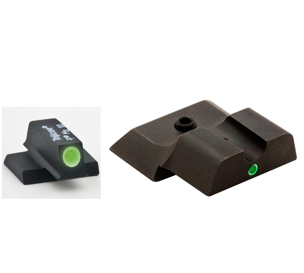 AmeriGlo SW141 i-Dot Night Sights S&W M&P Shield Tritium F|R Green