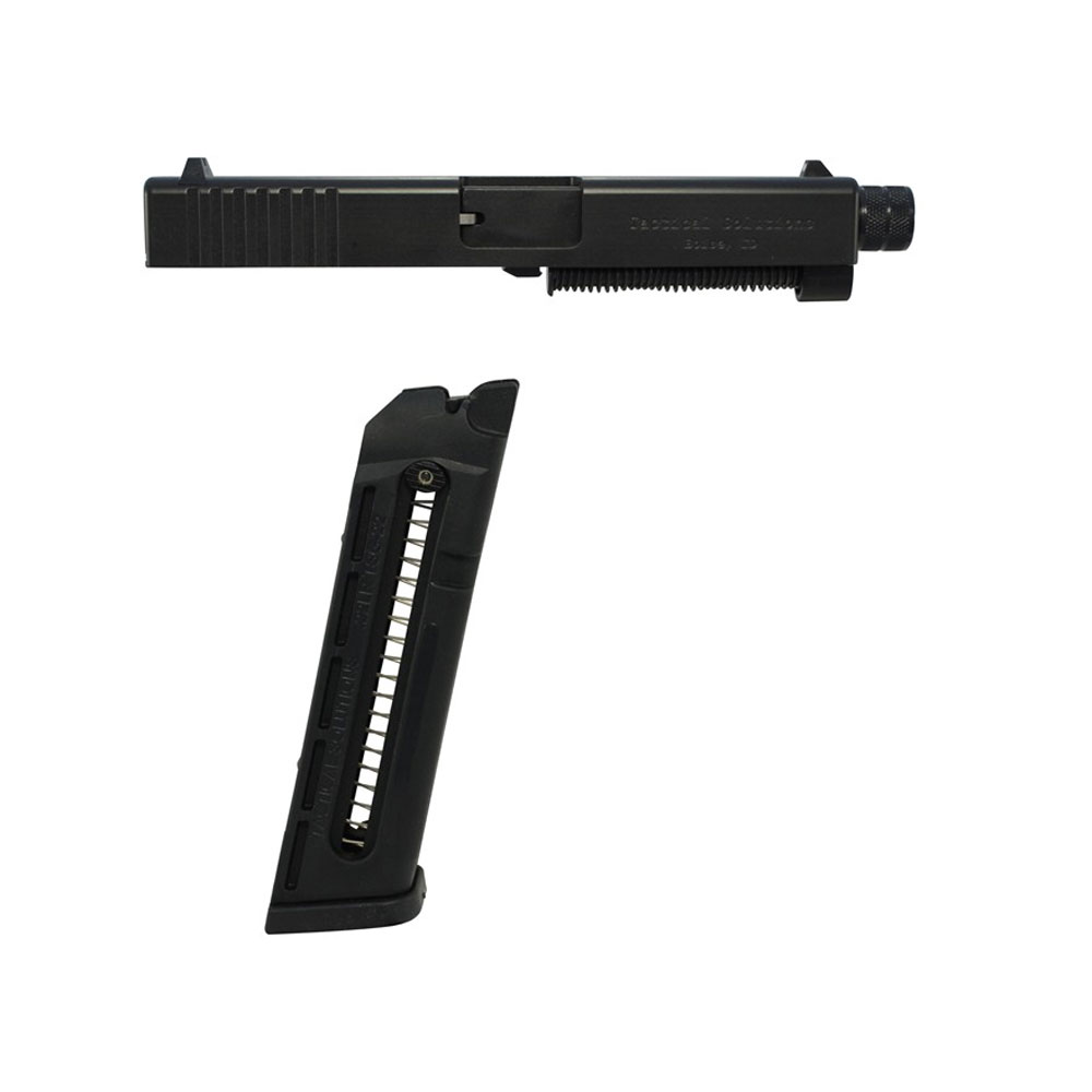 Tactical Solutions TSG221923STD TSG-22 For Glock 19|23|32|38 Standard Non-Threaded Barrel 4.8 Blk Steel in.
