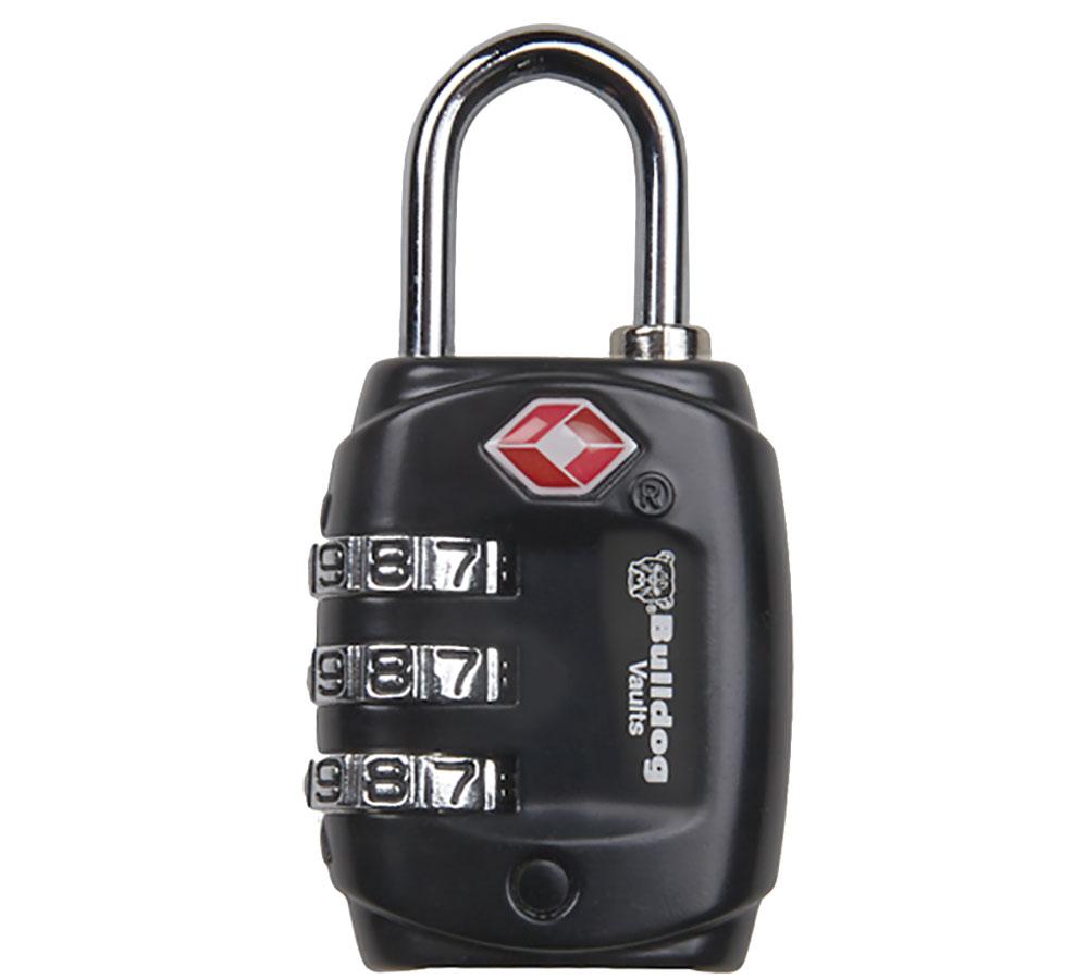 Bulldog BD8020 TSA Lock with .75 Shackle Comination Black in.