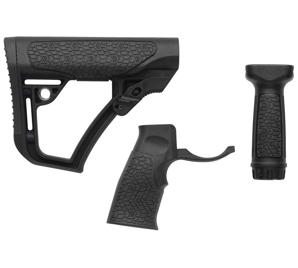 Daniel Defense 281020614500 Collapsible Buttstock AR-15 Glass Reinforced Polymer Black