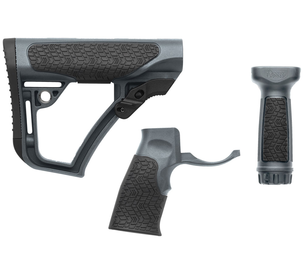 Daniel Defense 281020614501 Collapsible Buttstock Rifle Glass Reinforced Polymer Gray