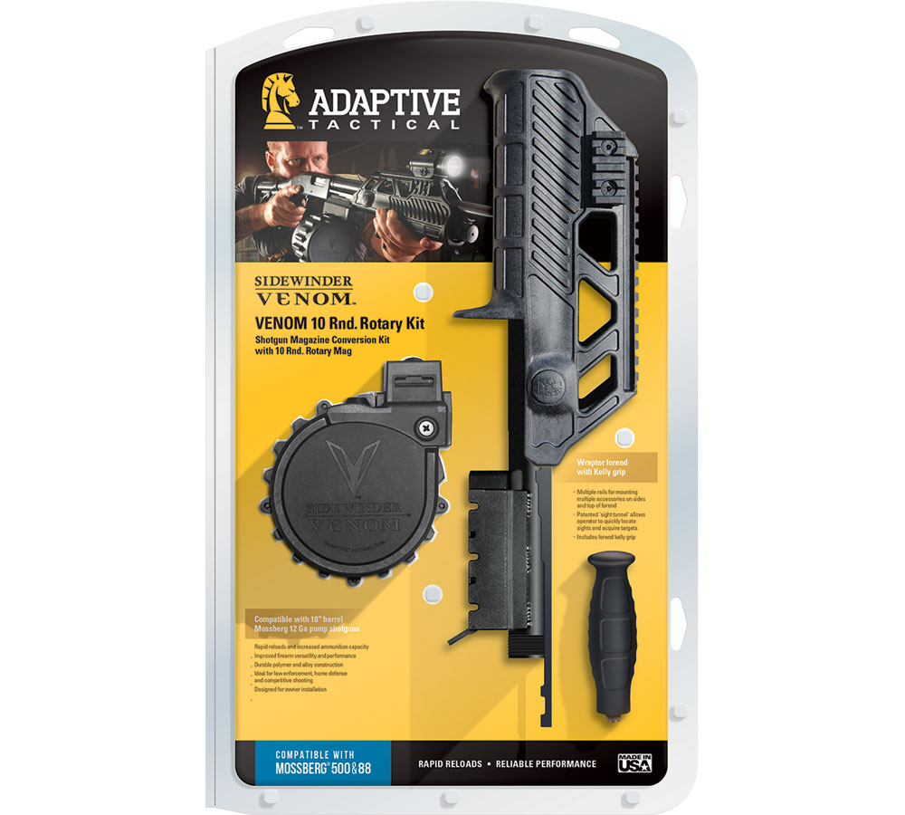 Adaptive Tactical 03900 Venom Rotary Conv Kit w|M4 Stk 12ga 2.75 10rd Moss 590 in.
