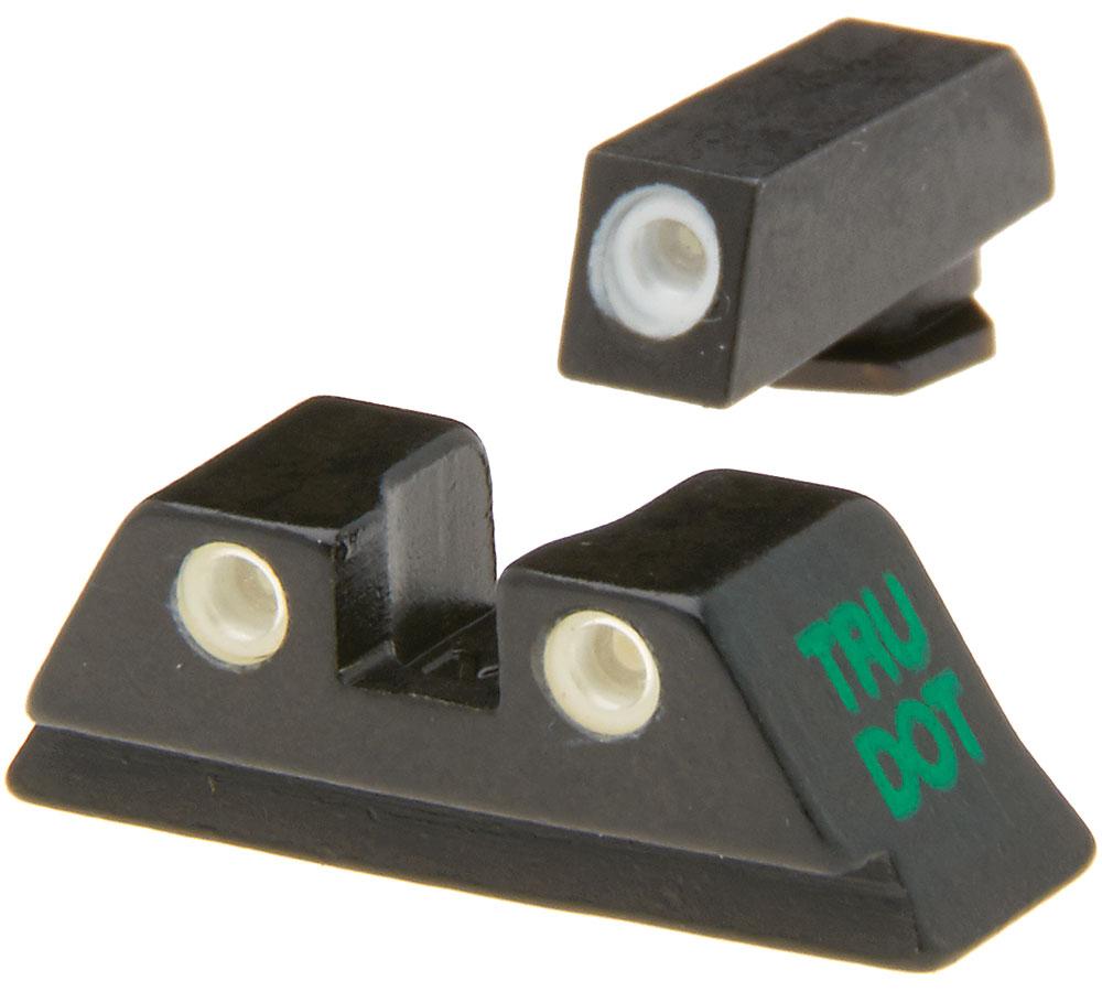 Meprolight 10222O Tru-Dot Night Sight Set Glock 20|21|29|30|36|41 Tritium Green Front|Orange Rear Black
