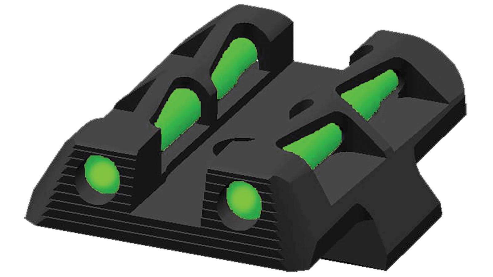 Hiviz GLLW11 LiteWave Glock 42|43 Green Black