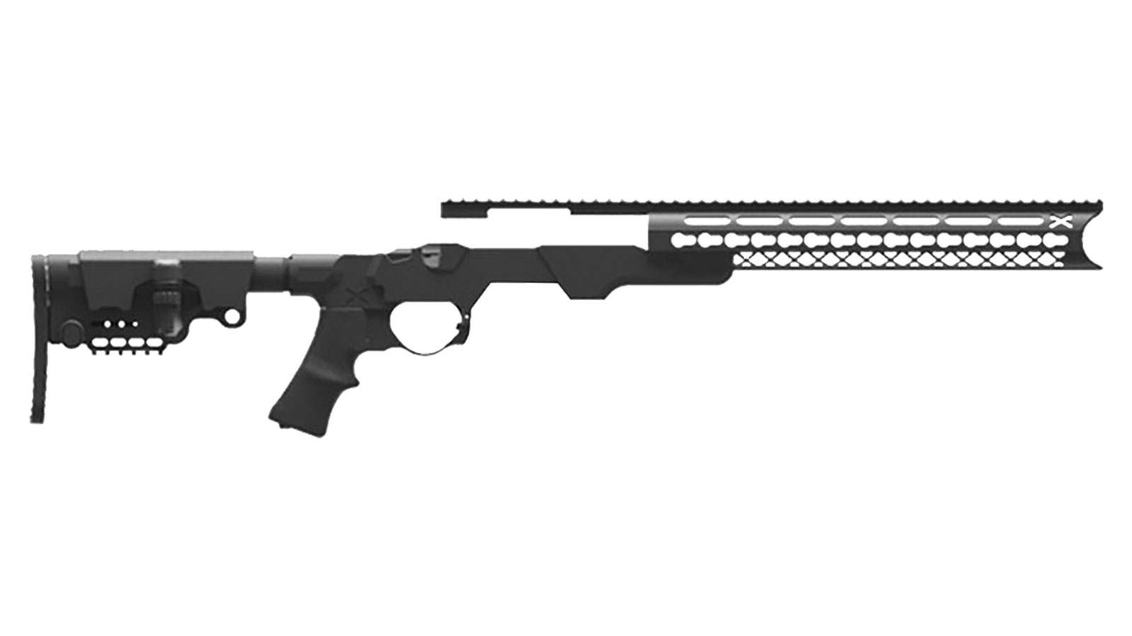 American Built Arms Company MOD X Modular Rifle System Black - For the Remington 700 Short
