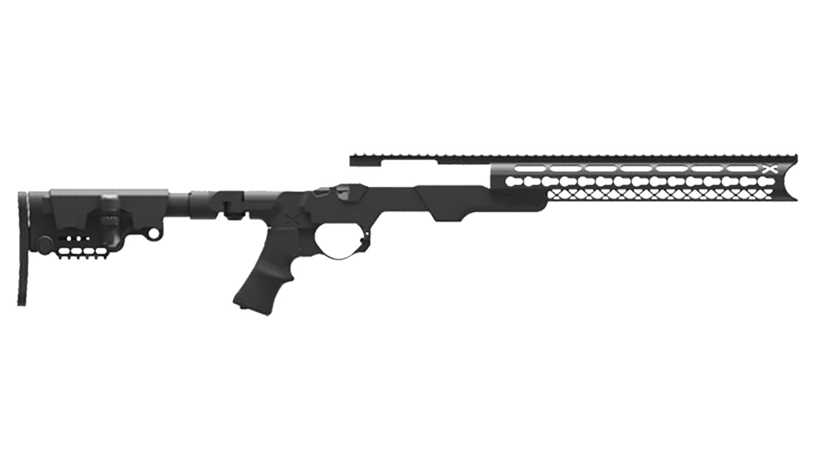 American Built Arms Company MOD-X GEN III Black Side Folder Stock for Remington 700 Short Action