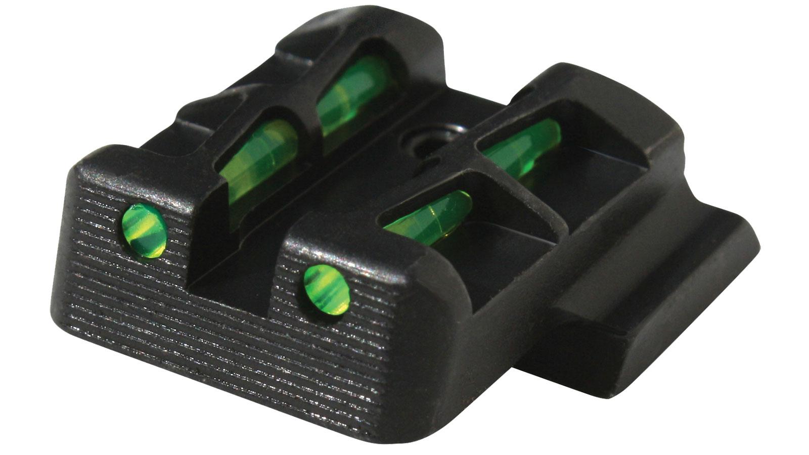 Hiviz GLLW15 LiteWave Rear Glock 9|40|357 (Not 42|43)   Fiber Optic Green Steel Black