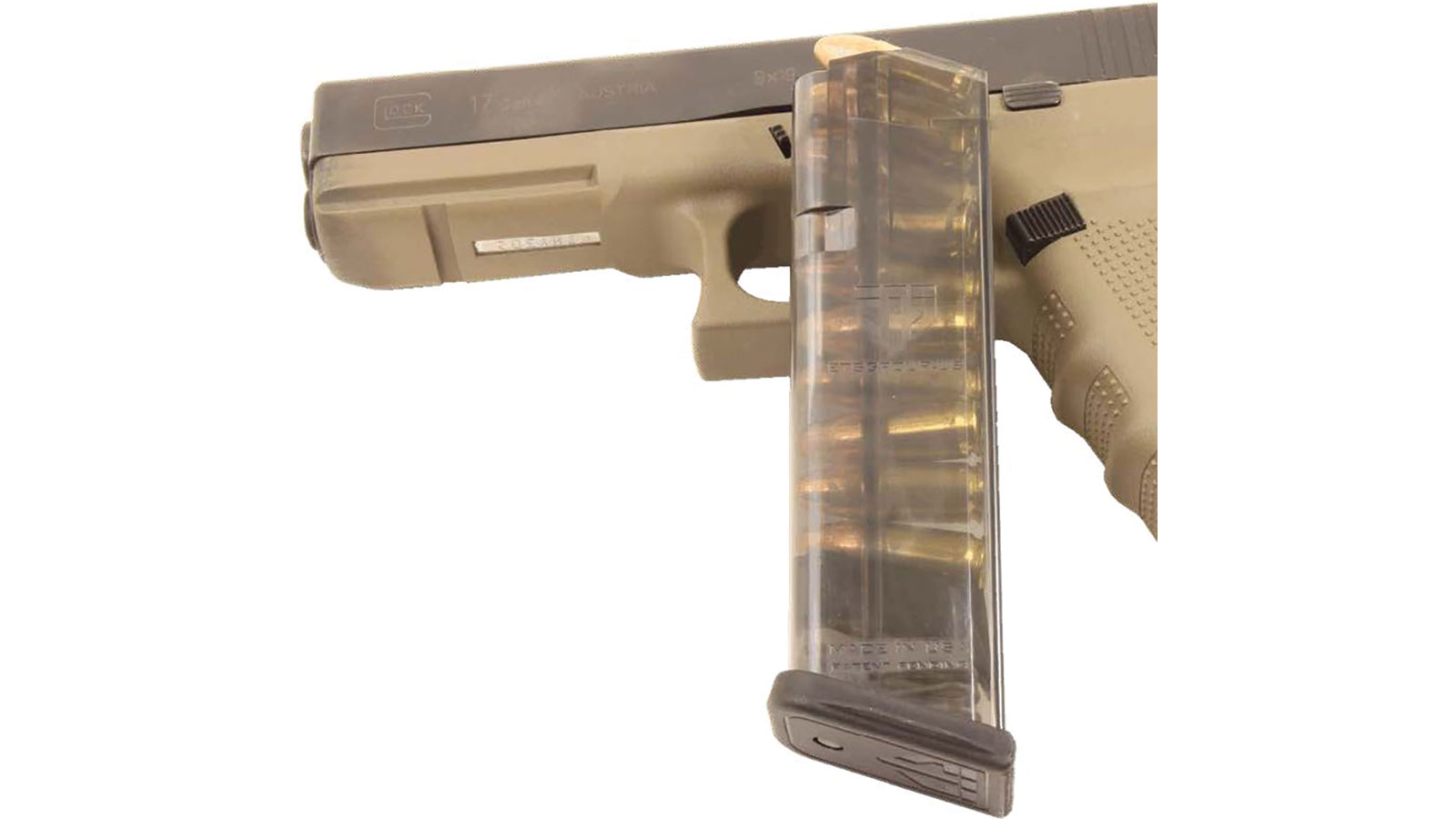 ETS Group GLK-17-10 Glock 17 9mm 10 rd G17|18|19|26|34 (Gen 1-4) Polymer Clear Finish