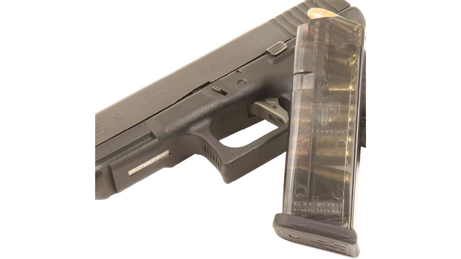 ETS Group GLK-19-10 Glock 19 9mm 10 rd G19|26 (Gen 1-4) Polymer Clear Finish