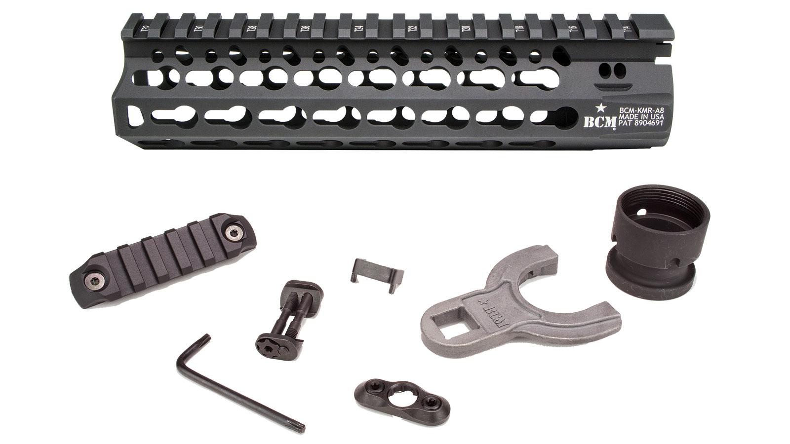 Bravo Company KMR-Alpha Rail Keymod Black 8 Inch