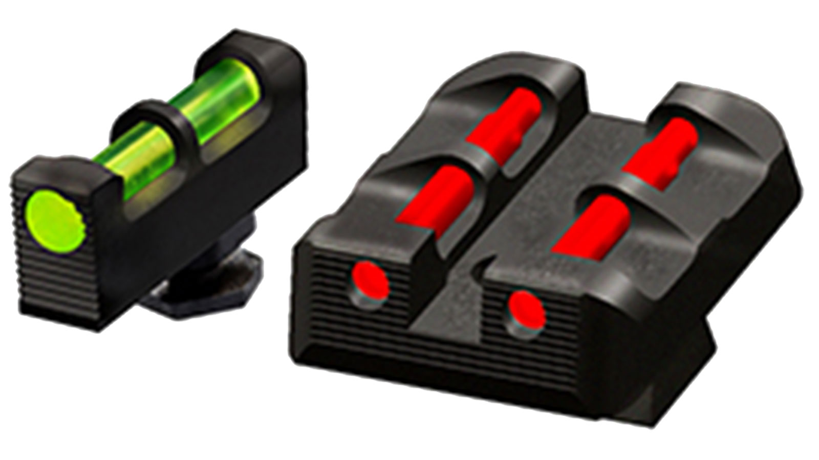 Hiviz  Glock Target Sights All Glock Green|Red|White Front Green|Red|Black Rear Black