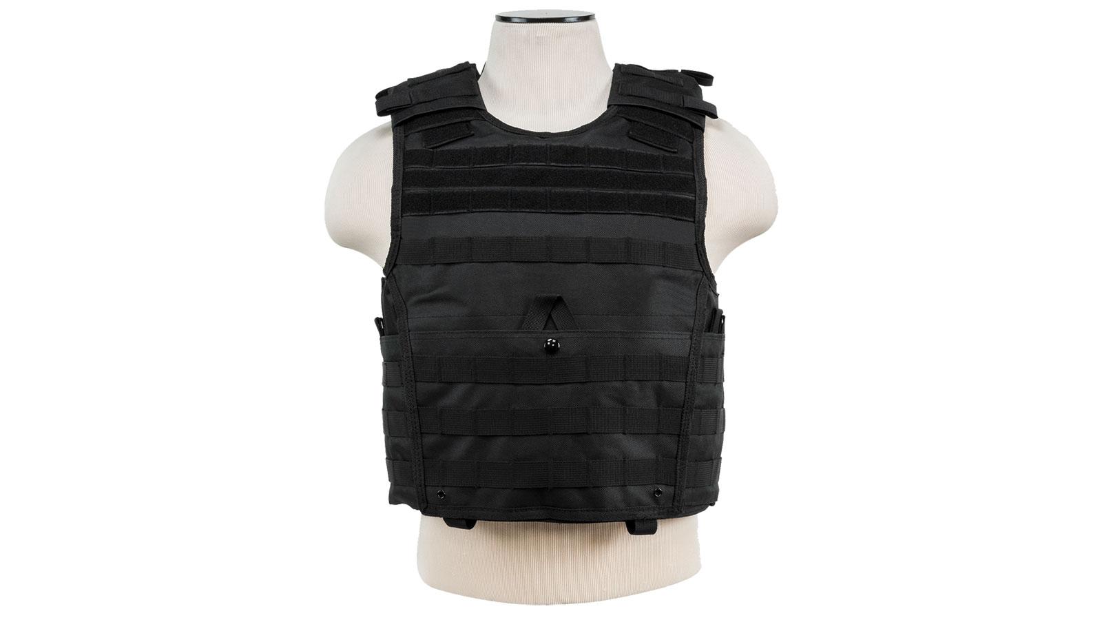 NC Star Vism Expert Plate Carrier Vest, Black