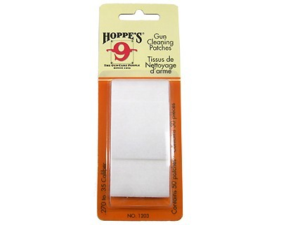 Hoppes 1203 Gun Cleaning Patches  .270-.35 Cal 50 Pack