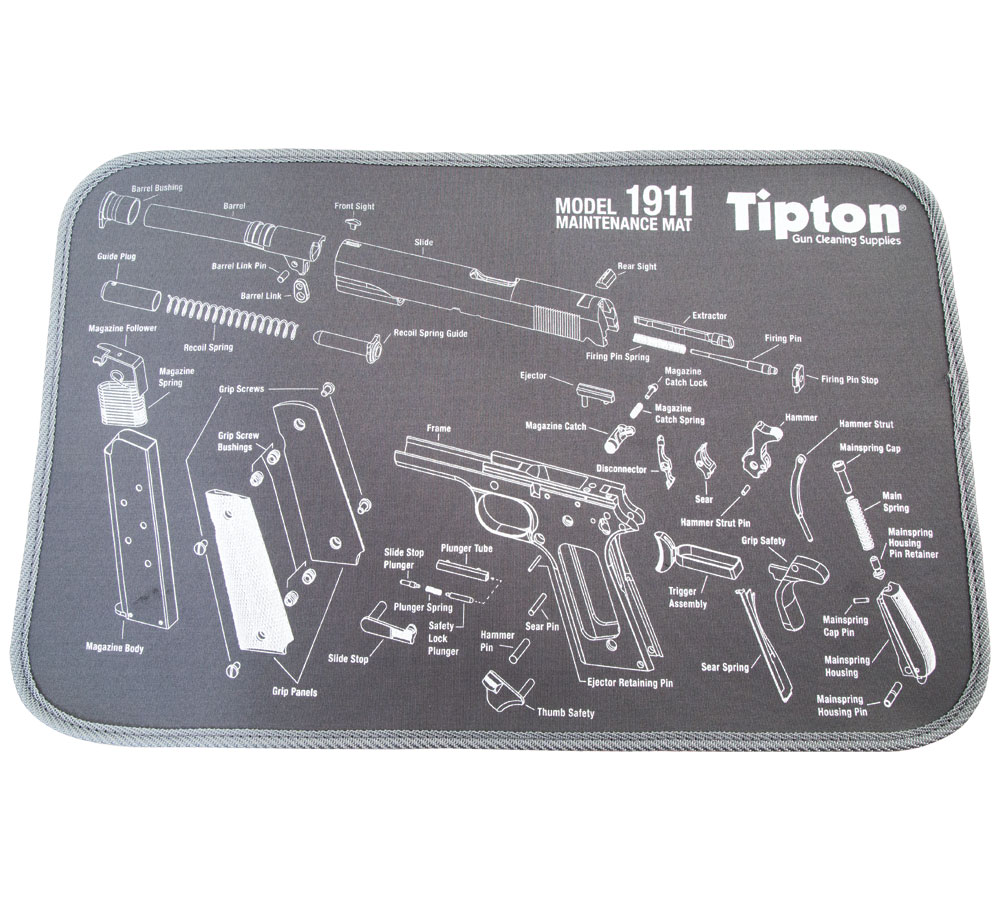 Tipton 558680 Maintenance Mat 1911 Exploded View print Bench Mat 10 x 12 in.  in.
