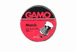 Gamo 632002454 Match Flat Nose  .177 Lead 250
