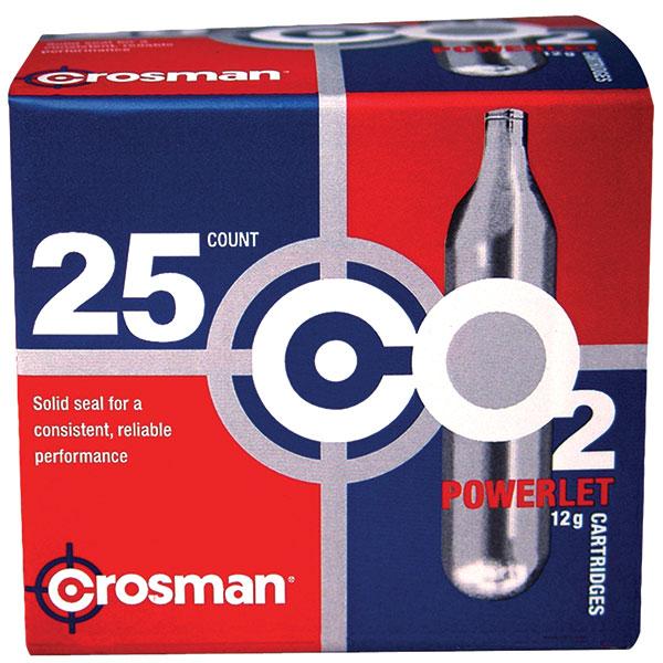 Crosman 2311 Powerlet CO2 Cartridges 12 Grams Stainless 25pk