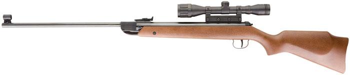 RWS 2166164 M34 Air Rifle Break Barrel .177 Pellet Single Shot w|Scope Hardwood Stock Blued