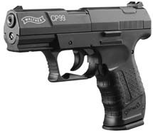 RWS 2252201 Walther CP99 Air Pistol Single|Double .177 Pellet CO2 Black
