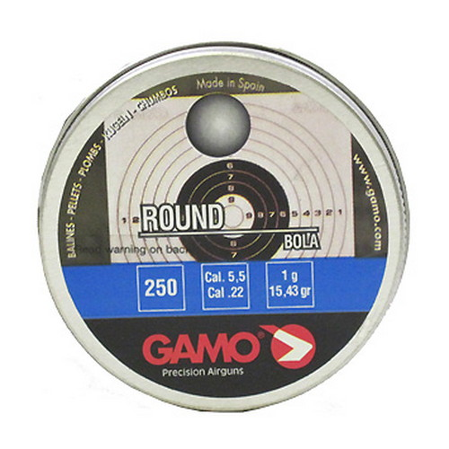 Gamo 632032554 Roundball Pellets (BB'S) .22 Caliber