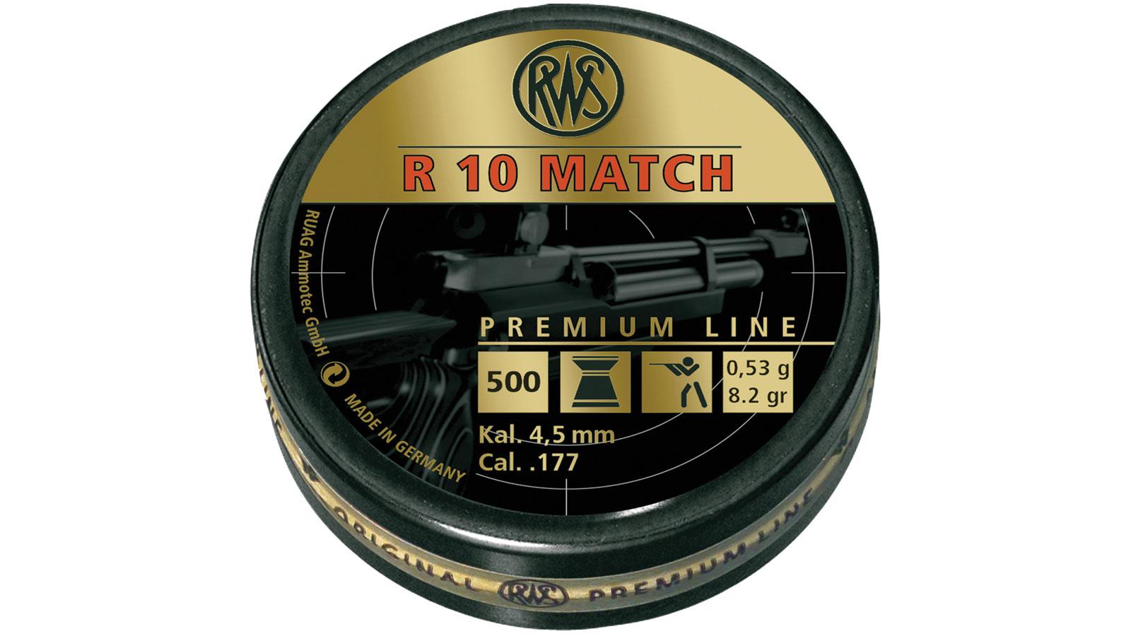 RWS 2315014 R10 Match Pellets  .177 Wadcutter Pellet Lead 500