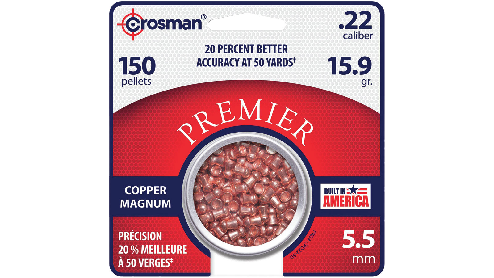 Crosman CPD22 Copper Magnum Premier Domed Pellet
