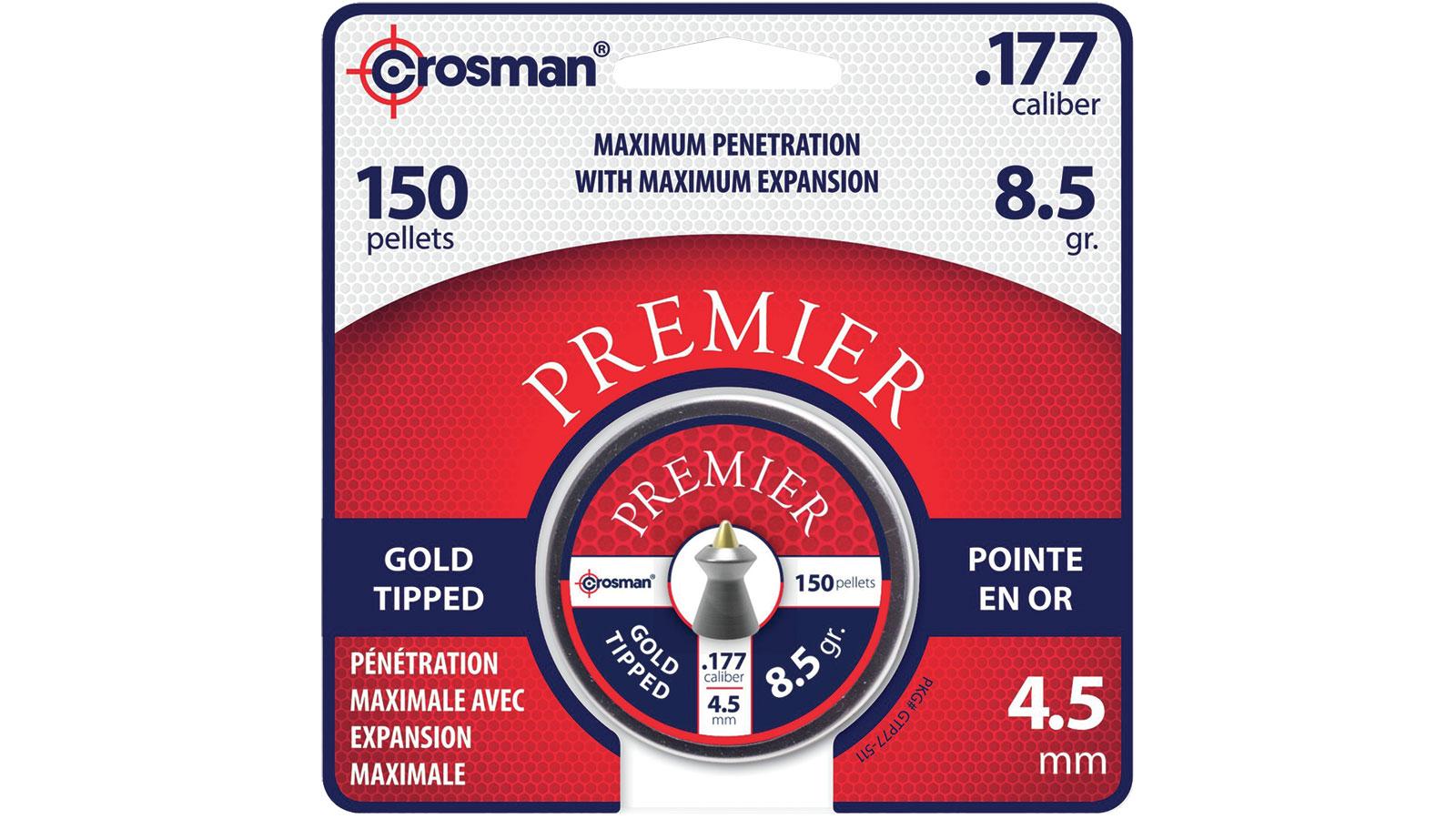 Crosman PREMIER GOLD TIP PELLET .17
