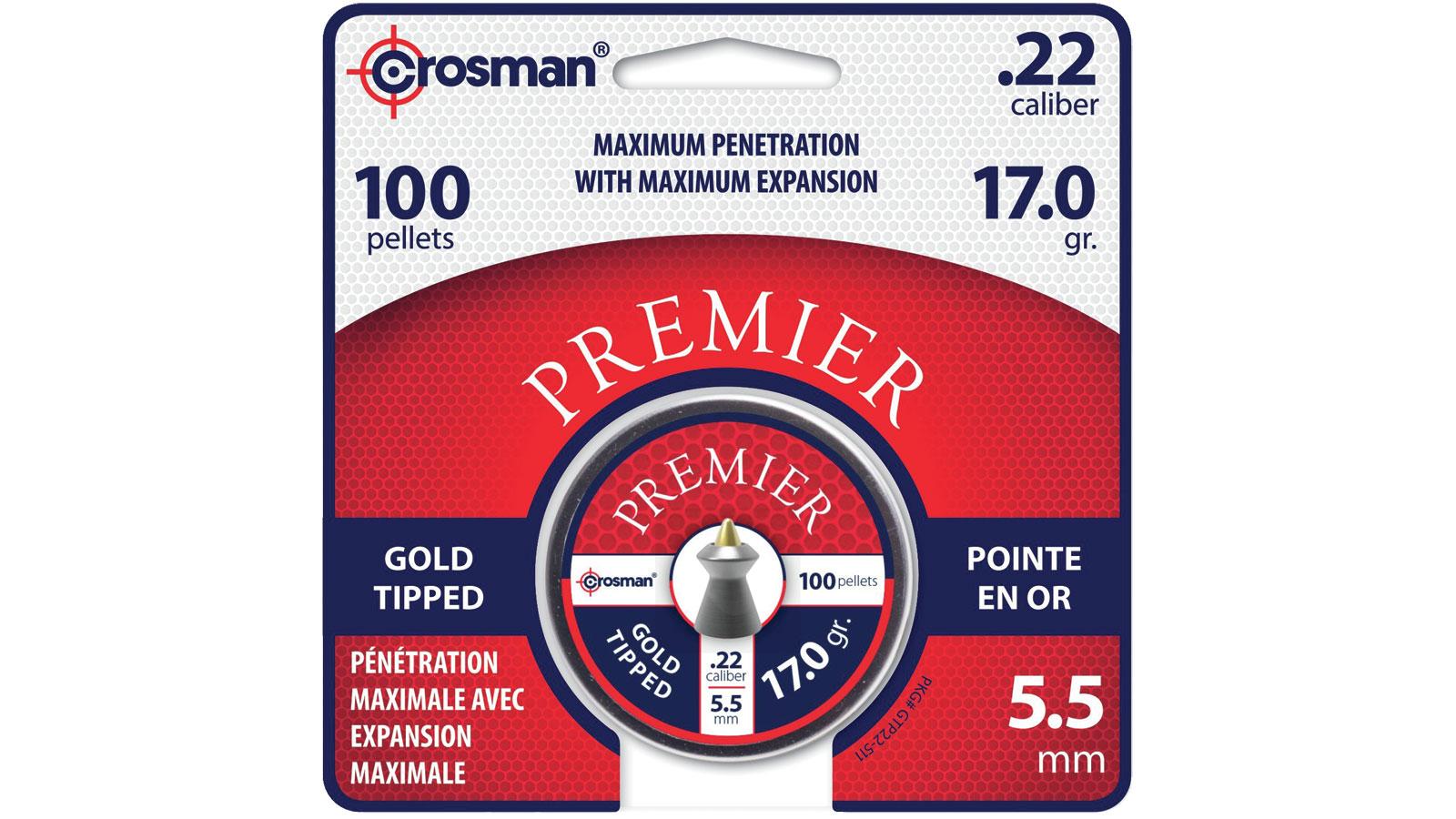 Crosman PREMIER GOLD TIP PELLET .22