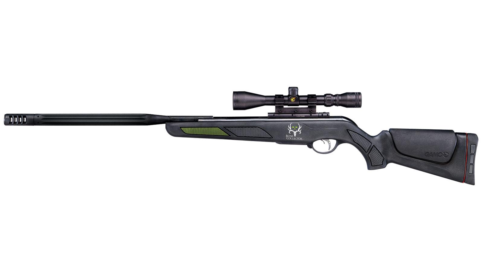 Gamo 611006254 Bone Collector Maxxim Air Rifle Break Open .177 Pellet 3-9x40 Scope Black Synthetic Stock Black