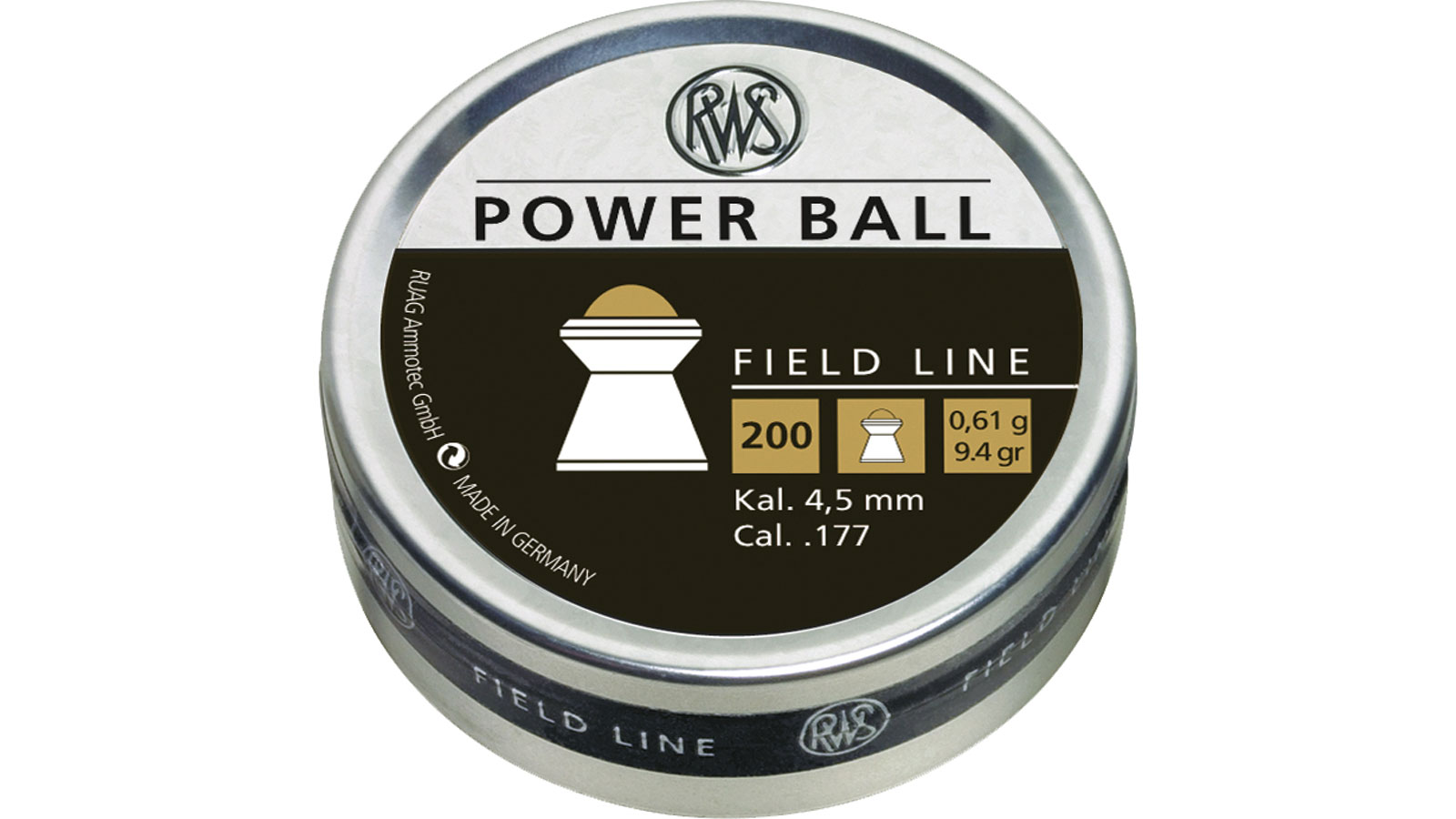 RWS 2317414 Power Ball Pellets .177 Pellet Steel|Lead 200