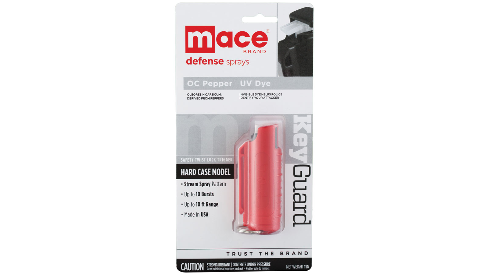 Mace 80390 Keycase Pepper Spray Contains 5, Short Blasts 11 gr Up to 10 Feet