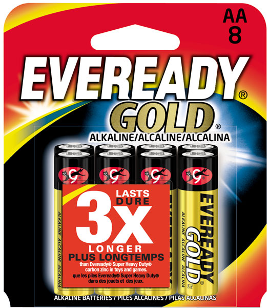 Energizer Eveready Gold ALK AA 8pk