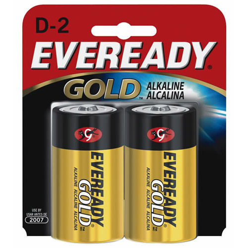 Energizer Eveready Gold ALK D 2-pack