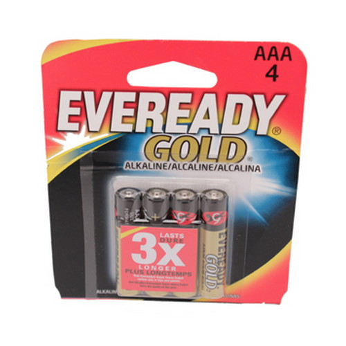 Energizer Eveready Gold ALK AAA 4pk