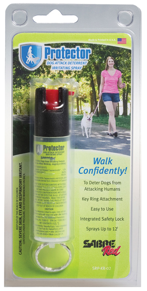 Sabre SRPK02 Protector Dog Pepper Spray Contains 14 Bursts .75 12ft w|Keyring