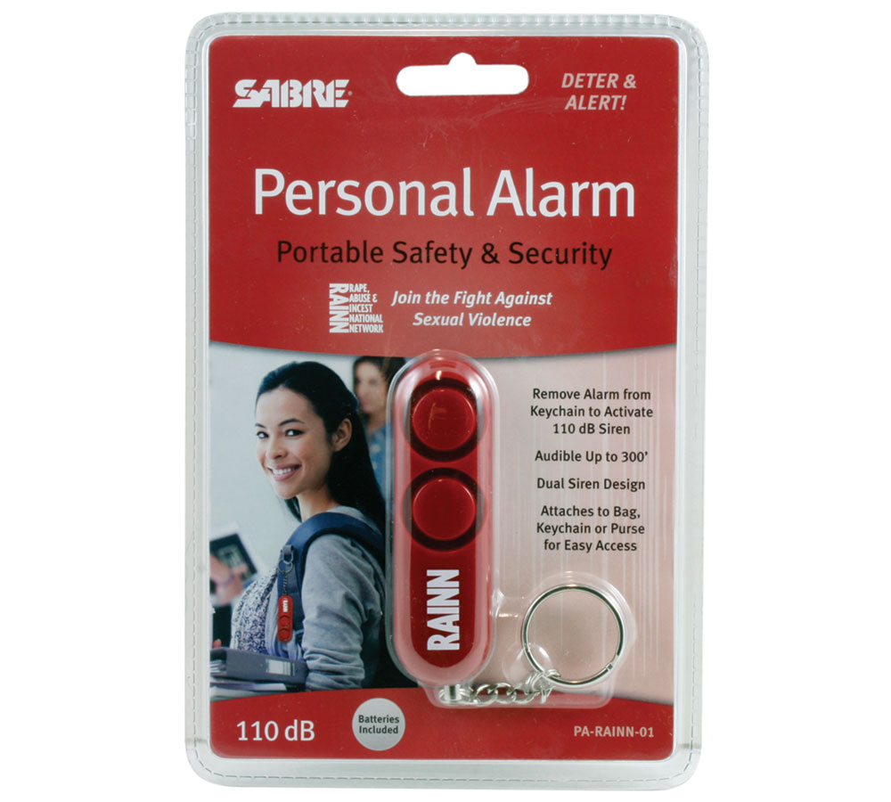 Sabre PARAINN01 Personal Alarm Keychain 110dB Up to 300'' Red Plasti