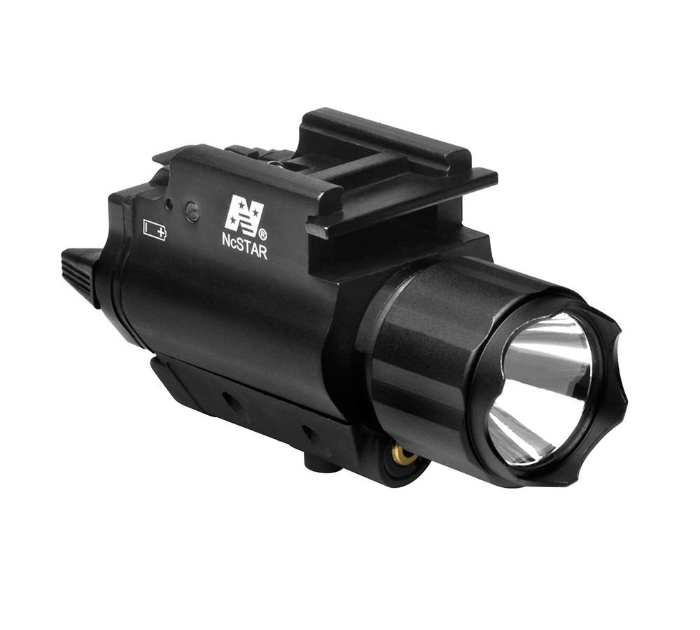 NcStar AQPFLSG 200L Flashlight Green Laser QR Mount Rail Mount Black