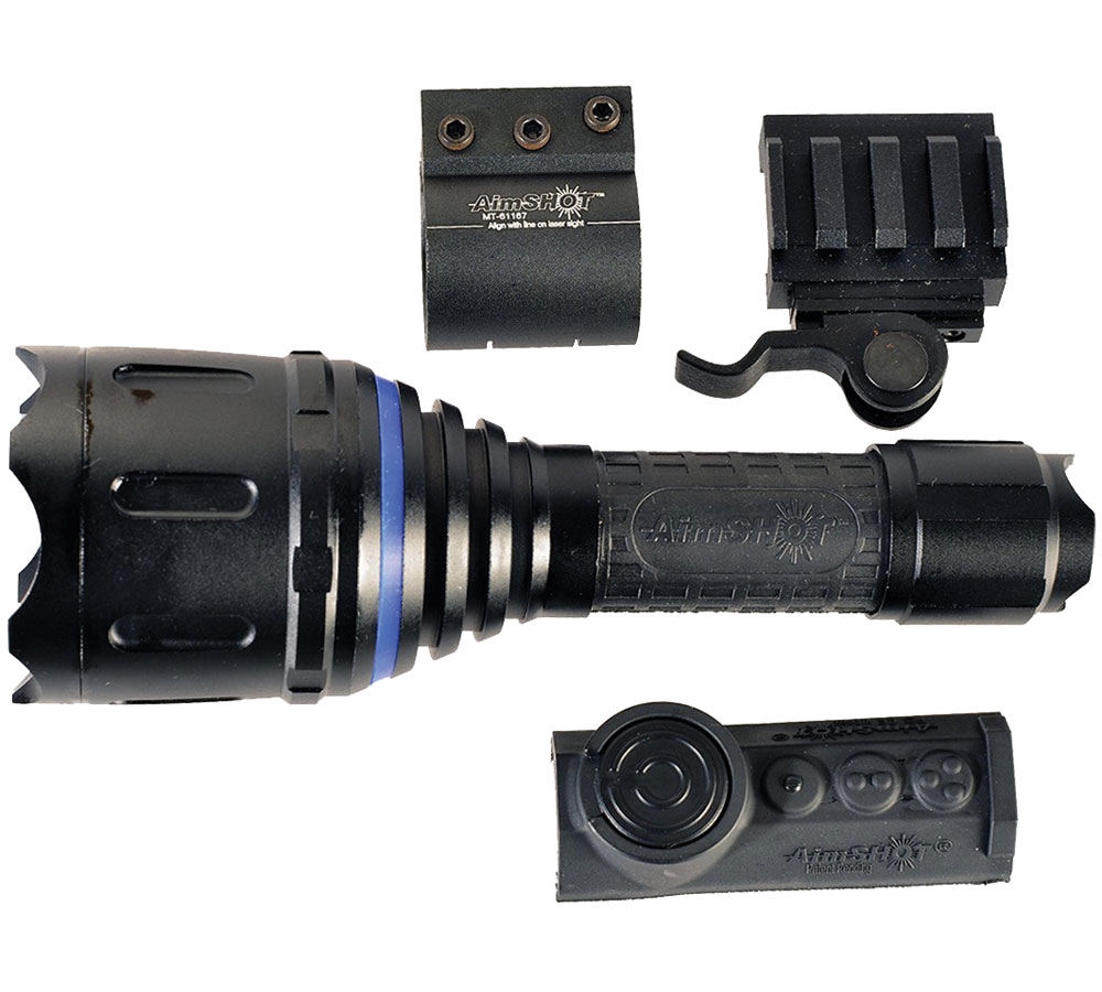 Aimshot TZ980WH TZ980 With Rail Mount LED 400 Lumens White CR123A Lithium (2) Aluminum Black