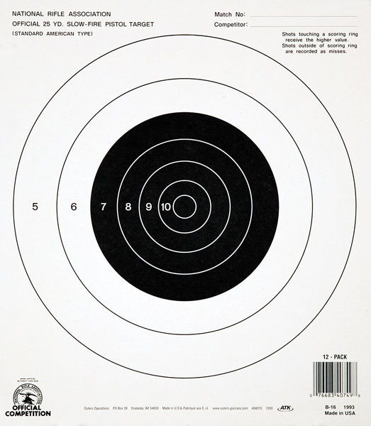 Champion Targets NRA B16 25YD Pistol S|F 100pk